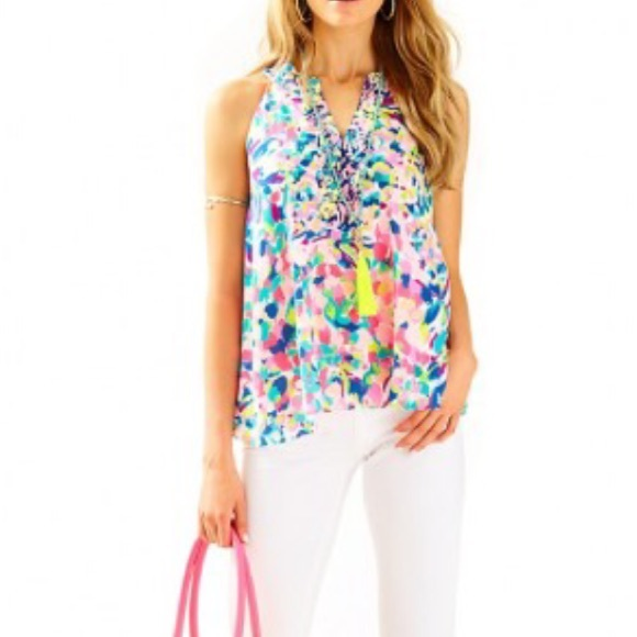 18d90136fb5d29 Lilly Pulitzer Tops | Achelle Top Xs Nwt | Poshmark